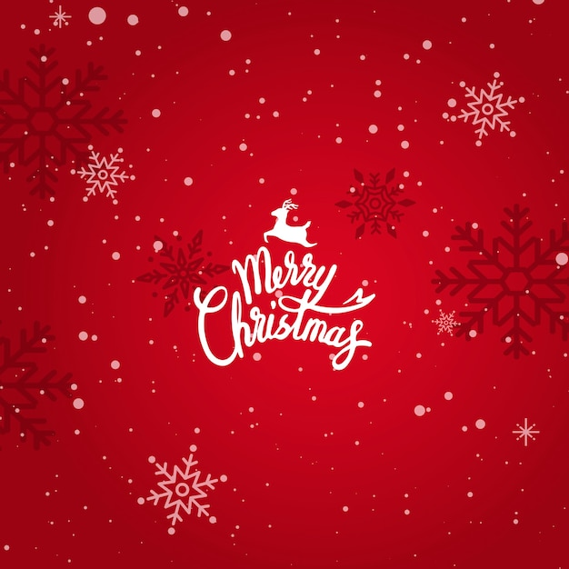 Merry christmas winter holiday greeting card