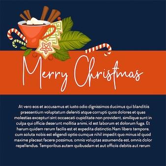 메리 크리스마스 겨울 휴가 상징.
