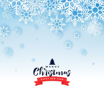 Счастливого рождества зимние снежинки приятная открытка