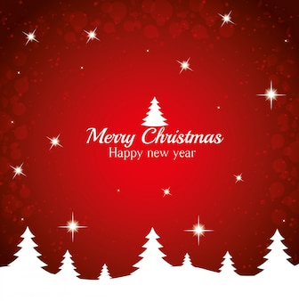 Merry christmas wishing card