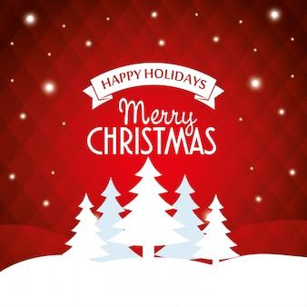 Merry christmas wishing card