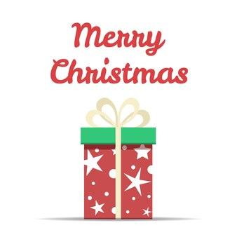 큰 선물 상자와 함께 메리 크리스마스입니다.