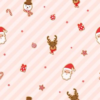 산타 클로스에 쿠키와 함께 메리 크리스마스