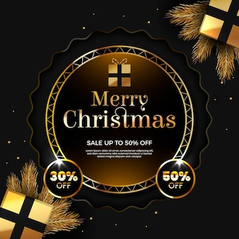 Merry christmas with fifty percent off