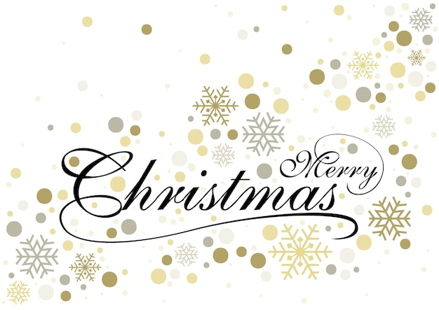 Merry christmas with gold glittering background