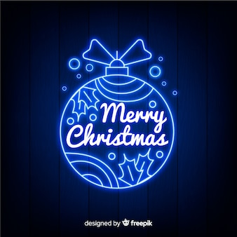 Merry christmas with neon design