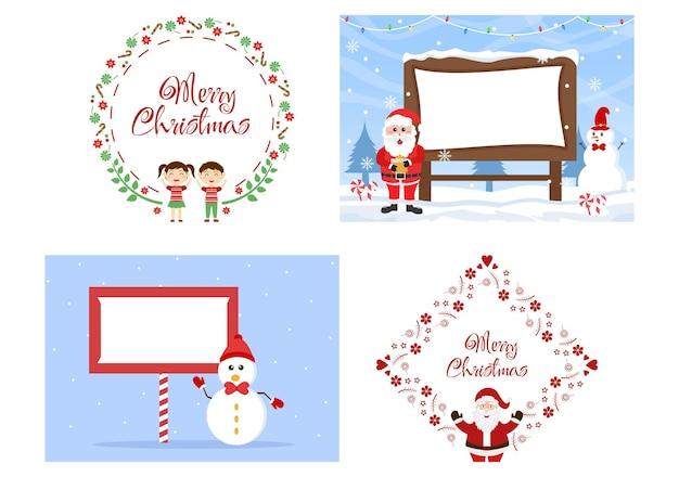 С рождеством христовым с вектором фона санта-клауса