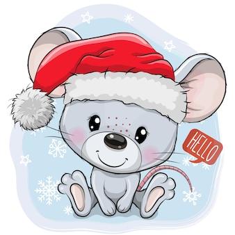 산타 클로스 선물 벡터 템플릿 인사말 카드와 함께 메리 크리스마스