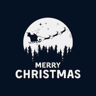 산타 클로스 로고 디자인으로 메리 크리스마스