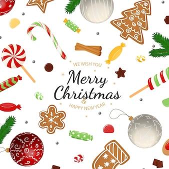 冬の要素を持つメリークリスマス