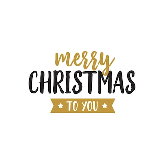 Merry christmas to you lettering