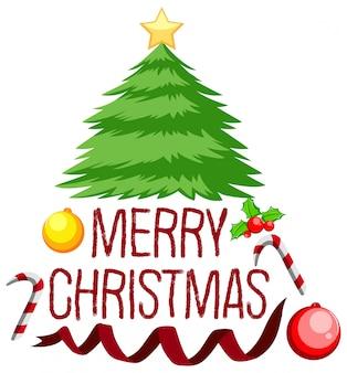 Merry chritmas tree concept