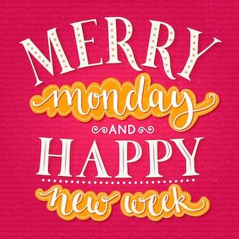 즐거운 월요일과 행복한 새로운 주 사무실의 주 시작에 대한 영감을 주는 인용문