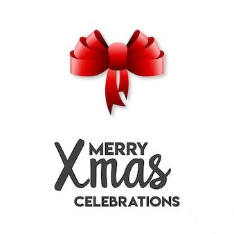 메리 크리스마스 축하 리본 활
