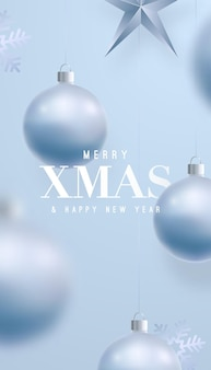 Merry xmas and happy new year festive banner