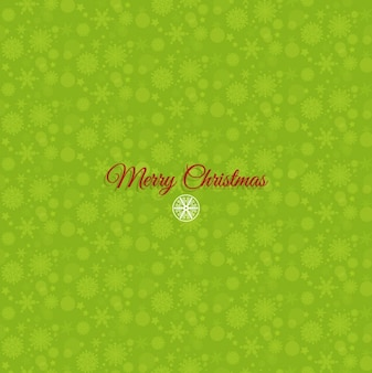 Mery christmas snowflakes on a green background