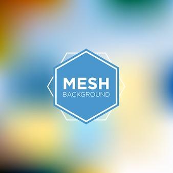 Mesh background in creamy morning tones Premium Vector