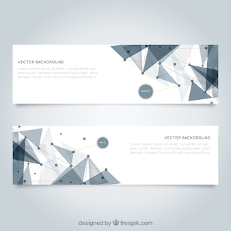 Mesh banners template Free Vector