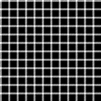 Mesh black check ornament seamless pattern