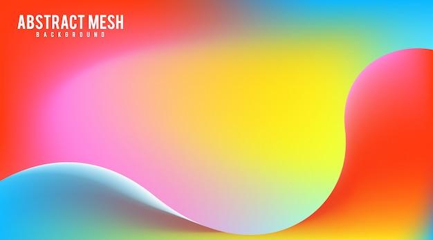 メッシュグラデーションの抽象的な背景のベクトル