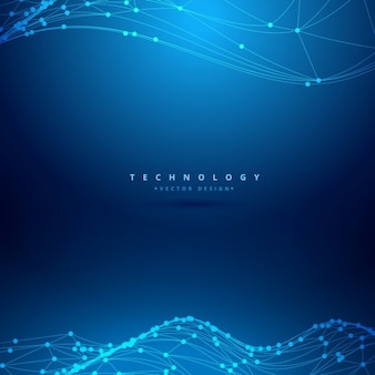 Mesh wireframe wave technology background