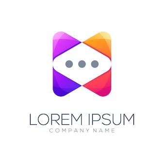 Логотип пузыря сообщения