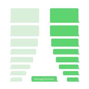 Message bubbles template for messenger chat or website. vector flat design.