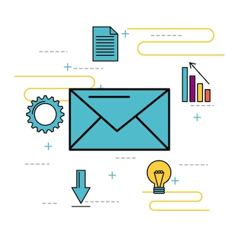 Message email nevelope business idea solution