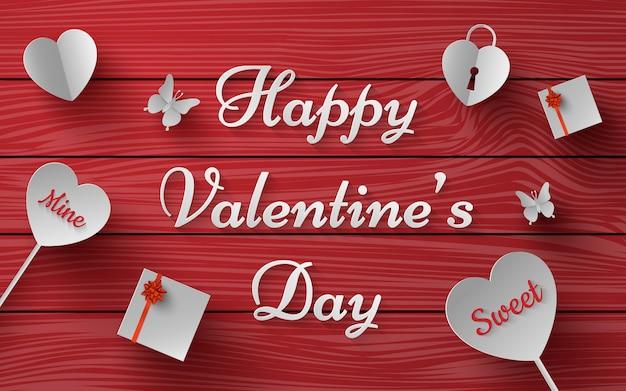 Message of happy valentine's day