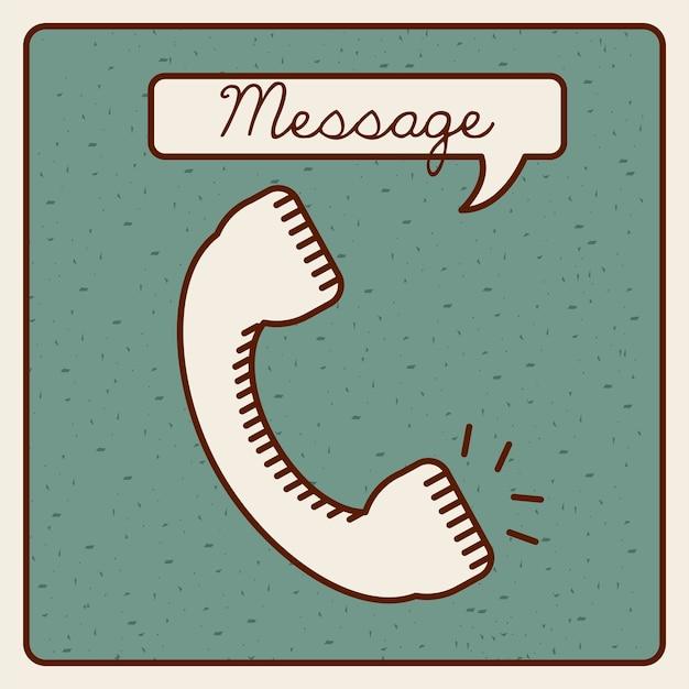 メッセージアイコンデザイン、ベクトルイラストeps10グラフィック