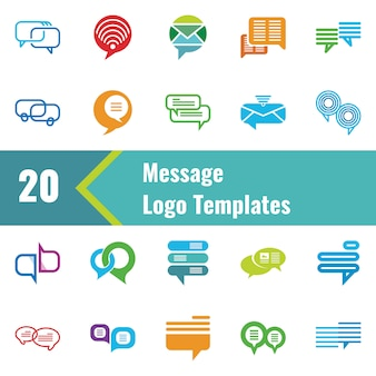 Message logo template
