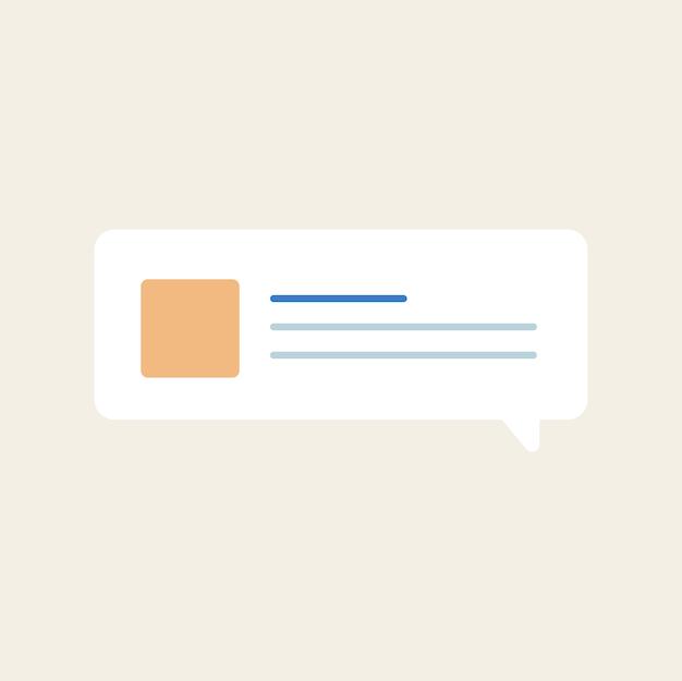 Message speech bubble icon