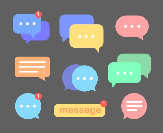 Message vector . message doodle