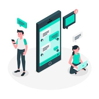 Messages concept illustration