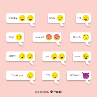 Messages with emojis reactions