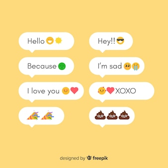 Messages with emojis
