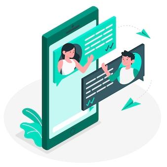 Иллюстрация концепции обмена сообщениями