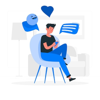 Messaging fun concept illustration