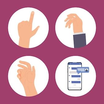 Набор иконок для обмена сообщениями