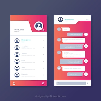 Messenger application for mobiles in gradient style