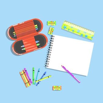 Грязное детское оборудование для рисования