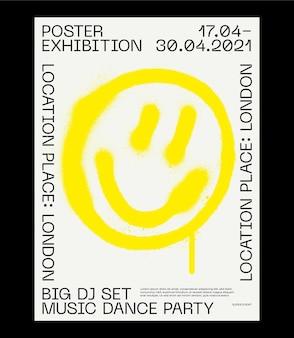 스위스 디자인 포스터 레이아웃의 메타 현대 미학 brutalist 예술 영감 벡터 그래픽 템플릿