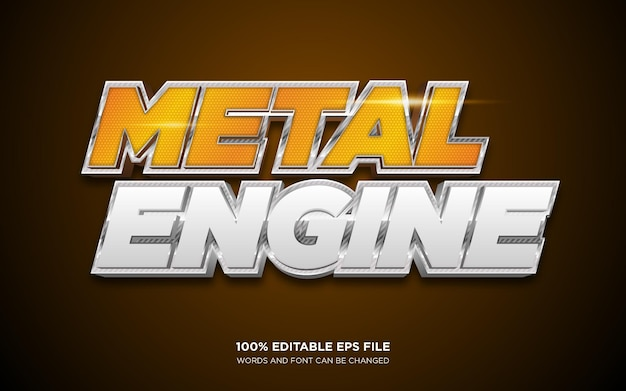 Metal 3d editable text style effect