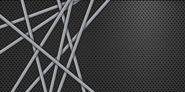 금속 배경 스틸 블랙 디자인