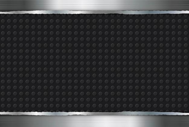 Metal background steel black