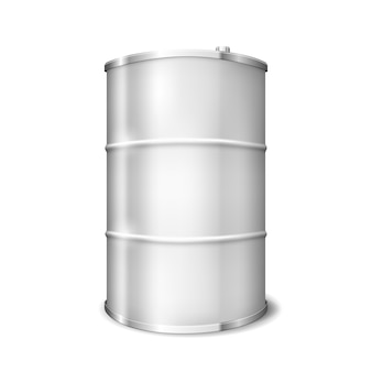 Metal barrel isolated