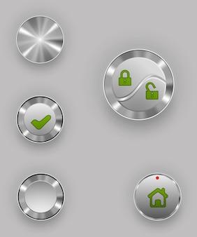 Metal buttons.   illustration