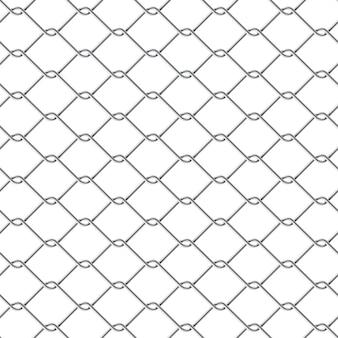 Металлический забор звено цепи бесшовные на белом