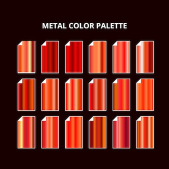 Metal color palette. orange red steel texture