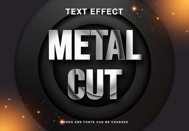 Металлический вырез и текстовый эффект серебристого цвета